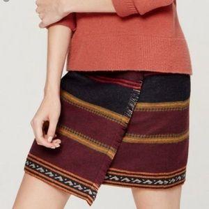 Ann Taylor LOFT Fringe Blanket Mini Skirt